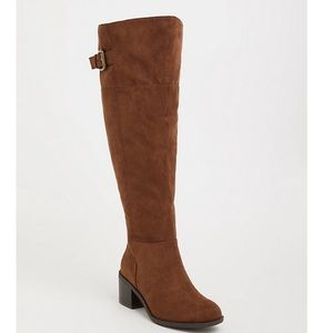 TORRID brown faux-suede over the knee boots!